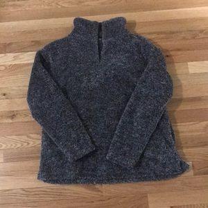 Jodifl plush cozy pullover, gray, size medium